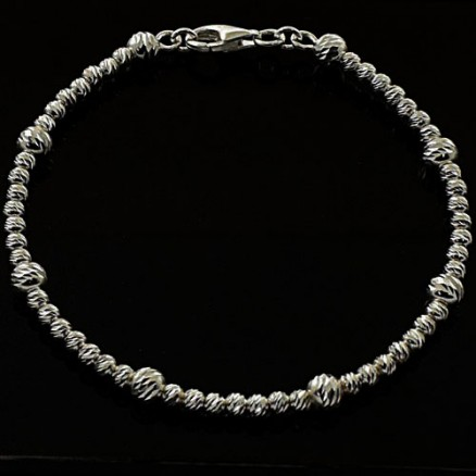 Stunning Diamond Rhodium Plated 925 Sterling Silver Omega Rope Bracelet