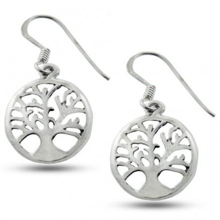 Open Filigree Dangle 925 Silver Oxidized Hook Earrings