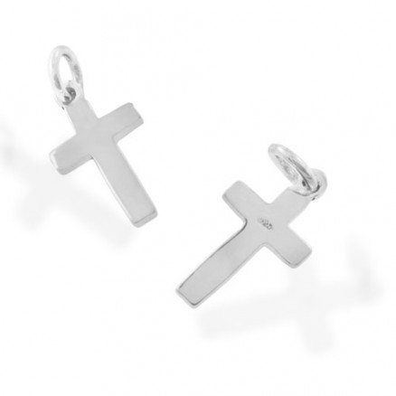 925 Sterling Silver Simply Silver Tiny Cross Pendant