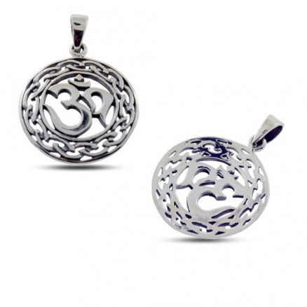 925 Sterling Simply Silver Oxidized Charm Pendant