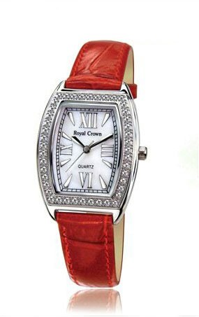 Designer Inspired Royal Crown Women's Watch With CZ