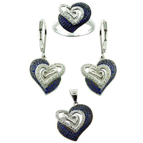 Loyal Very Pretty 925 Silver Set Necklace And Earrings With Rhinestones Lovely Costume Jewellery Sets